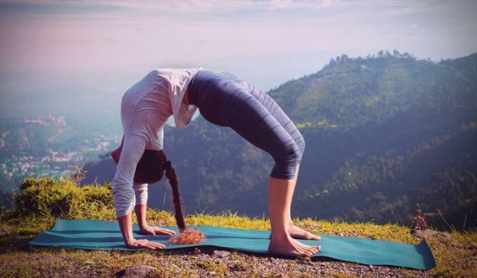 Similar to the yogic upward table pose