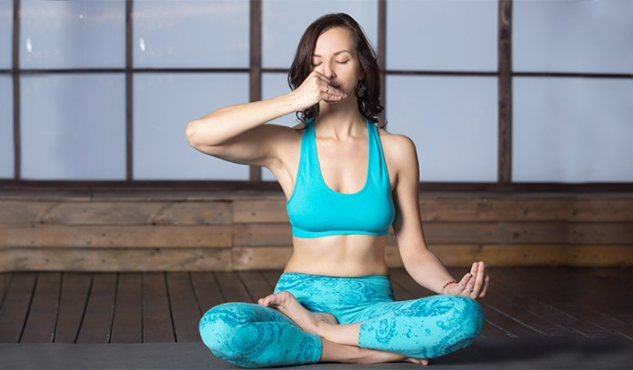 Alternate nostril breathing promotes deep relaxation