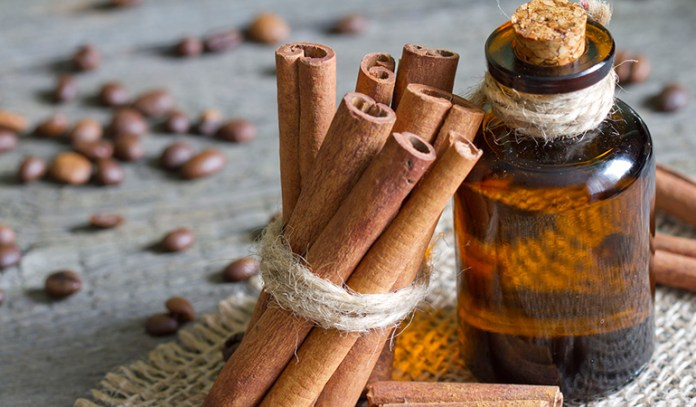 Cinnamon oil-used in aromatherapy for weight loss, reduces blood sugar.