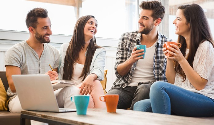 Making friends at work can help improve happiness at work