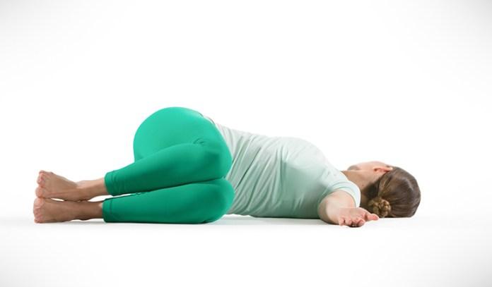 Yoga for tailbone pain reclining twist