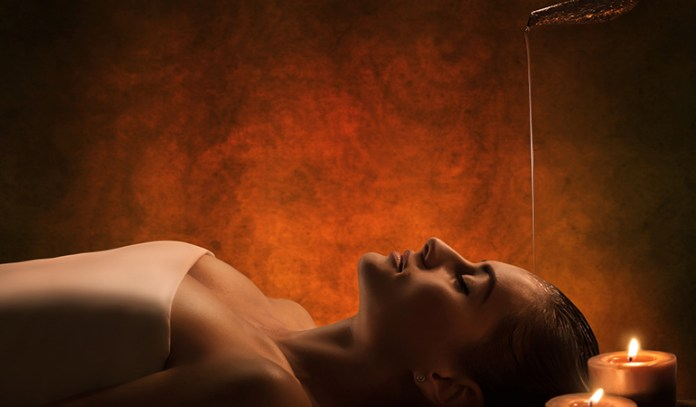 Shirodhara is a head massage that stimulates the nerves in the scalp