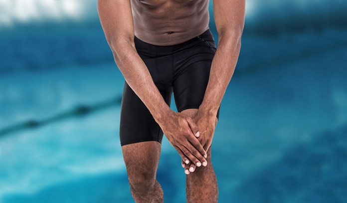 Swimmer's knee caused due to swimming