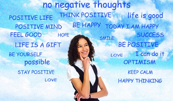 Positive thinking helps improve happiness at work