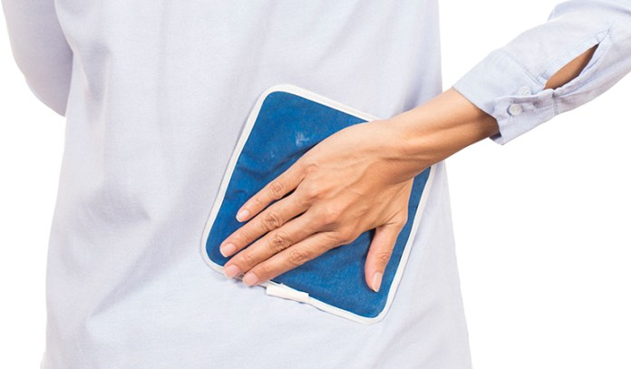 Apply hot and cold packs for relief from tailbone pain