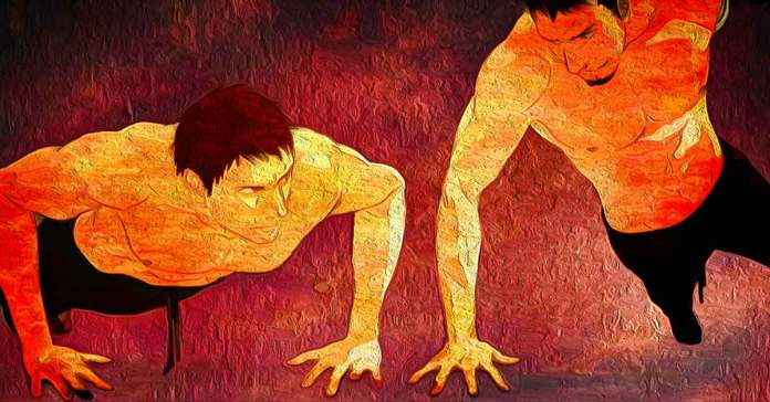 Push-ups are great to help strengthen the muscles in your shoulders, arms, and chest