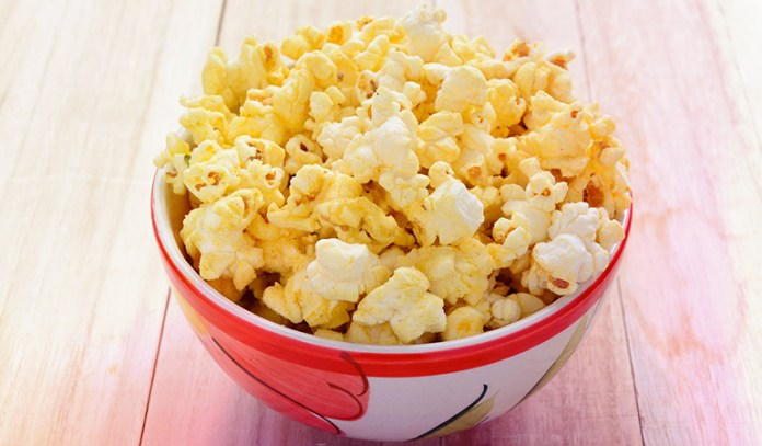 popcorn and cheese is rich in protein