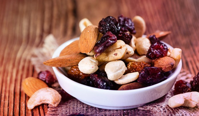 dried fruits and nuts are rich in protein