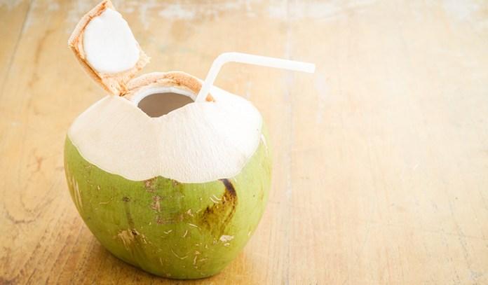 coconut water can help replenish fluids balance