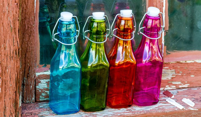 water charged in sunlight is used for color therapy