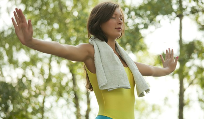 The exercise helps in the mind-muscle connection pertaining to the lung muscles and also at the times of stress and axiety