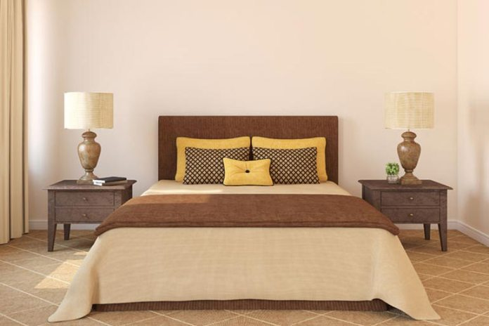 These are light natural tones great for the bedroom.