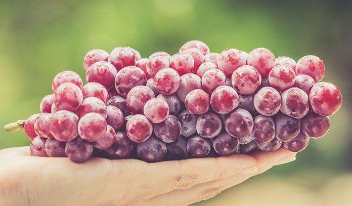 Red grapes come with plenty of natural antioxidants and chemicals that help keep skin inflammation at bay.