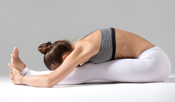 Seated Forward Bend Pose Stimulates Oxygen To Scalp