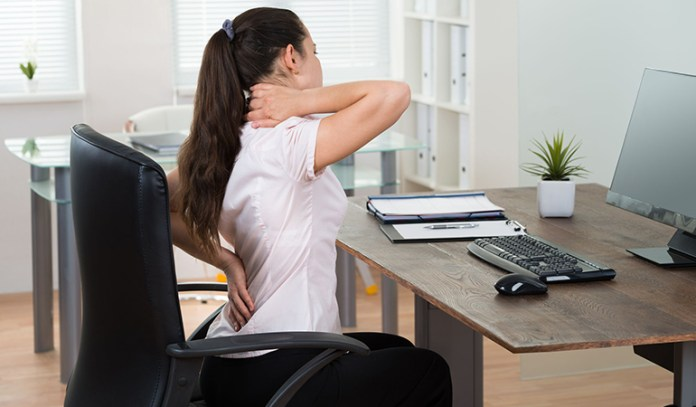 Sitting upright constantly can increase back pain