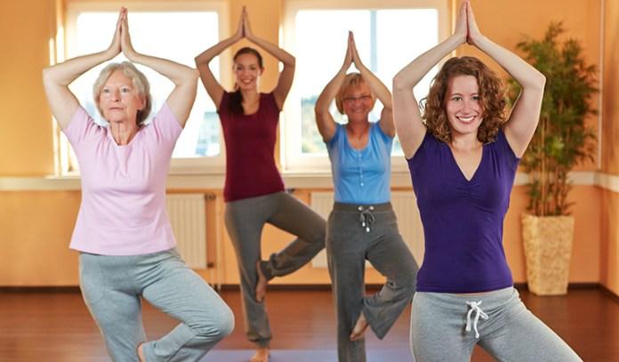 Yoga poses for older beginners Tree Pose Vriksasana