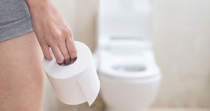 Wiping avoids bacterial invasion UTI infection