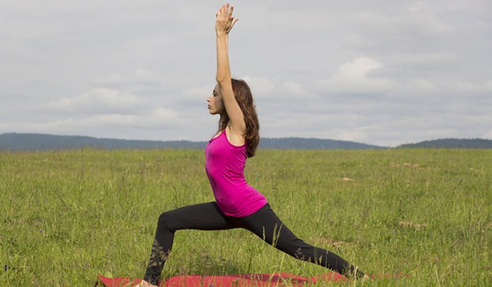 The warrior pose helps you channel a conquering spirit.