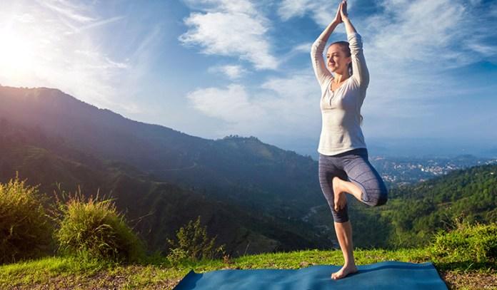 Vrikshasana (Tree pose) is beneficial to balance vata dosha
