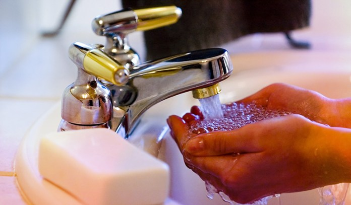 Using too much soap dries the skin.
