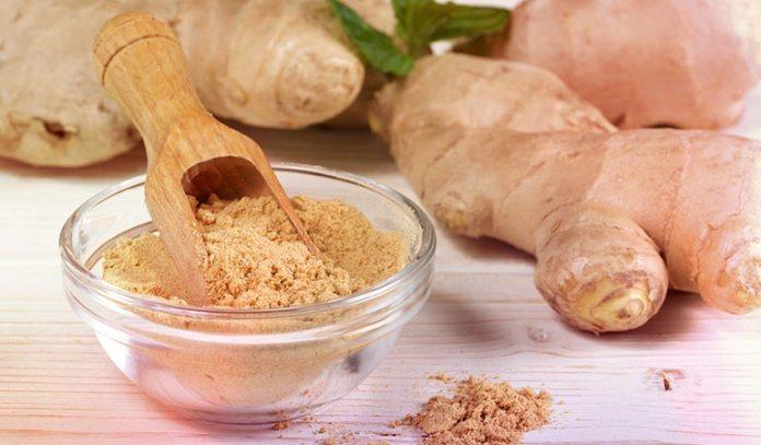 Apple cider vinegar infused ginger powder is helpful for dandruff treatment