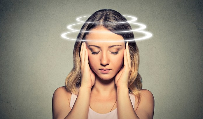 Dizziness can be caused due to stress