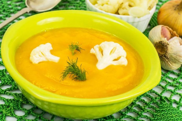 Pumpkin And Cauliflower Soup Is Rich In Fiber