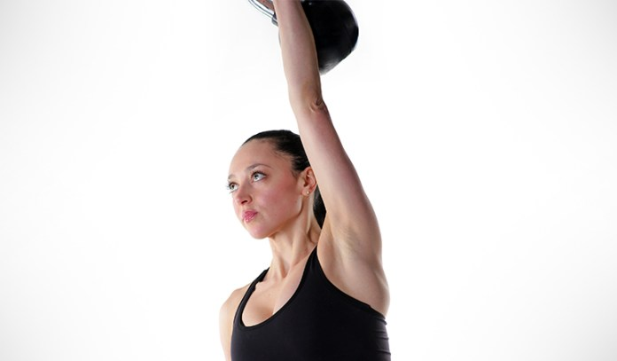 This exercise is a slight variation with one arm overhead
