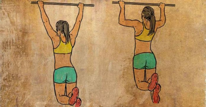 do pull ups to reduce back fat