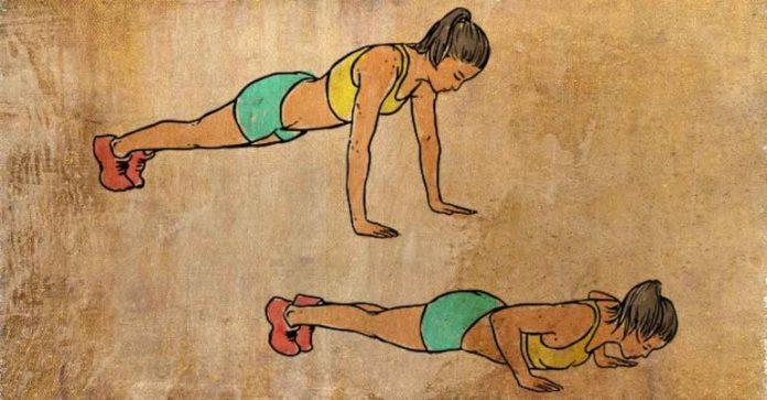 push ups to reduce back fat