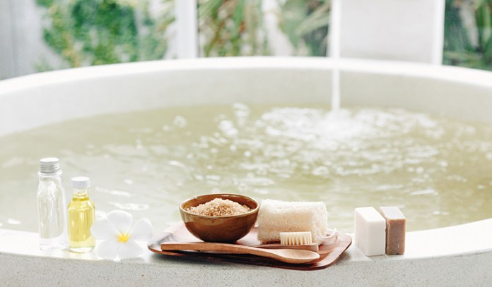 Run a bath of hot water with apple cider vinegar and soak for half an hour