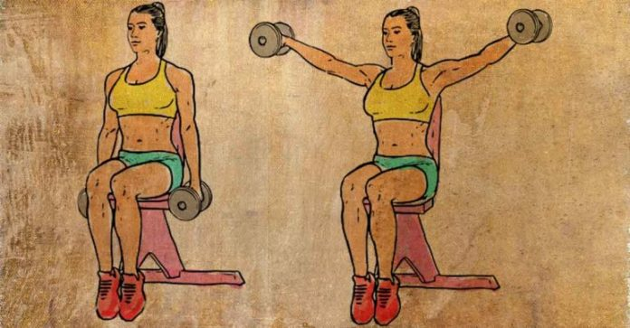 seated lateral to reduce back fat