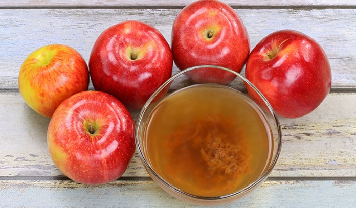 """Apple cider vinegar is made by the fermenting apples and contains """"good"""" bacteria that is beneficial for our health"""