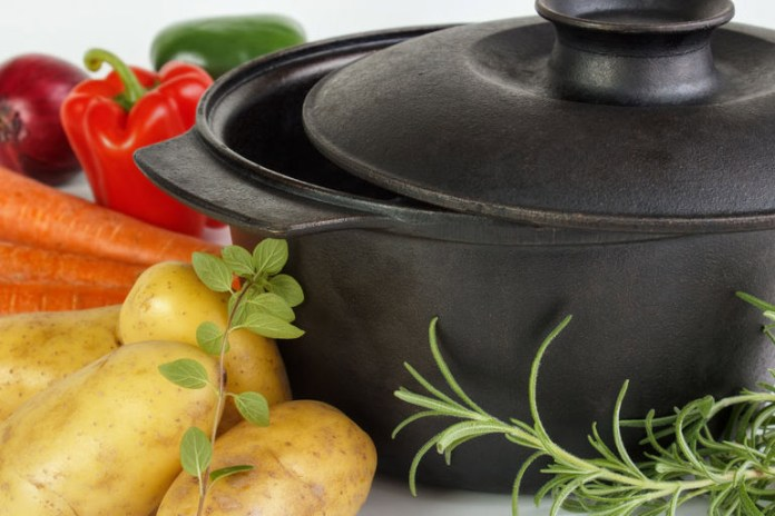 Cast irons don't release toxins like Teflon pans do