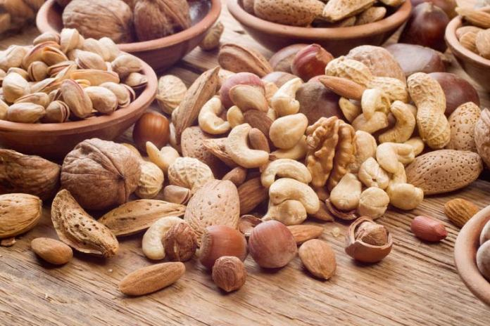 Calories are similar in raw and roasted nuts