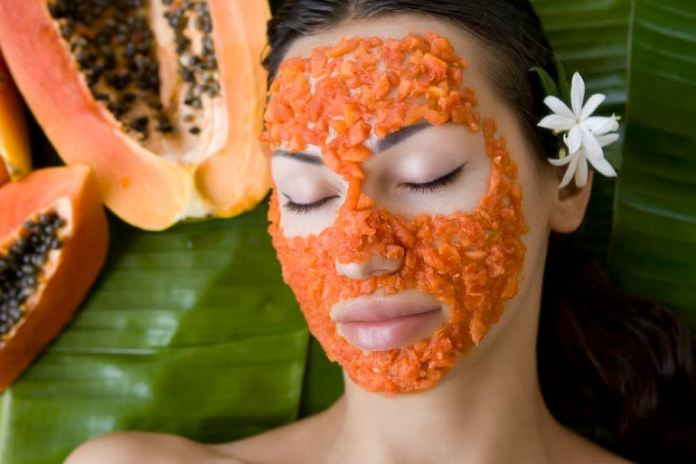 Papaya helps with uneven skin tone