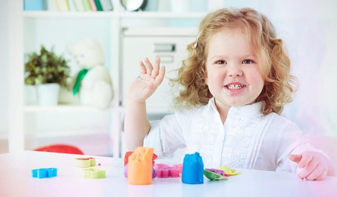 Squeezing, and stretching play dough enhance your kid's finger muscles.