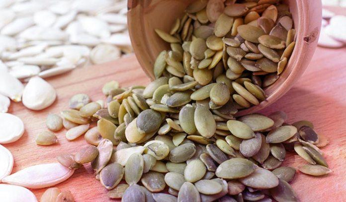 Pumpkin seeds have 8 grams of protein per 50 grams)