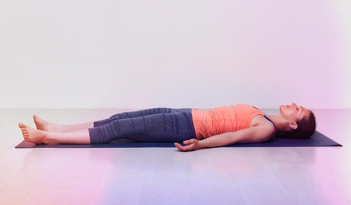 Savasana helps you relax)