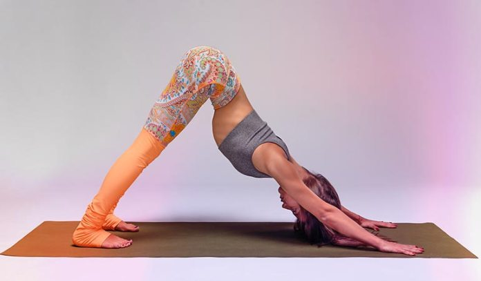 Downward facing dog stretches your body