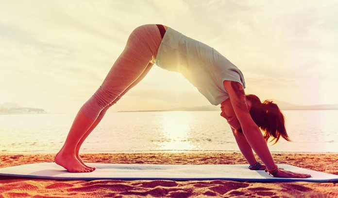 : Downward-facing dog energizes your body.
