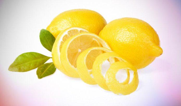 Boil Lemon Peels With Water In A Kettle