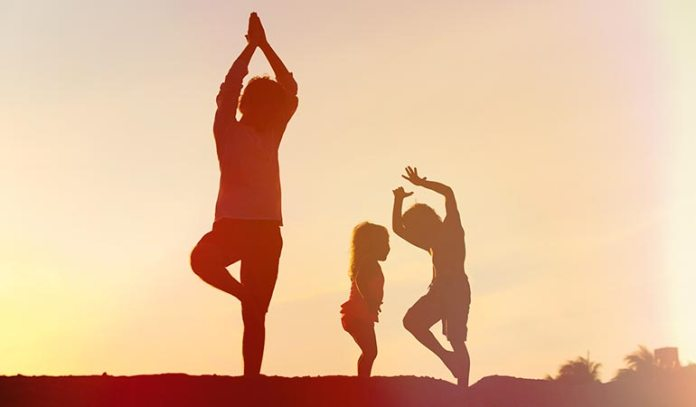 Tree pose increases concentration in children with autism.