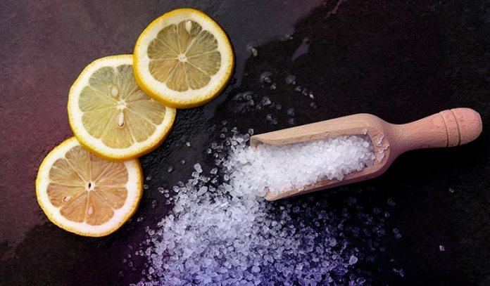 Scrub your underarms using lemon juice and salt)