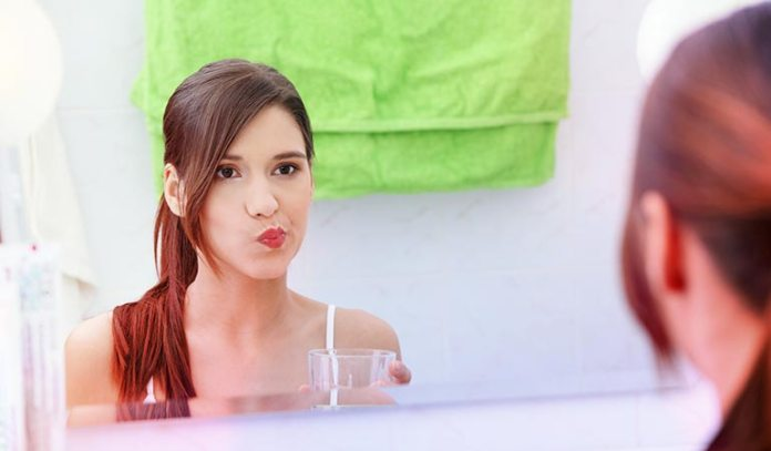 Swish coconut oil for ten seconds to reduce oral thrush.