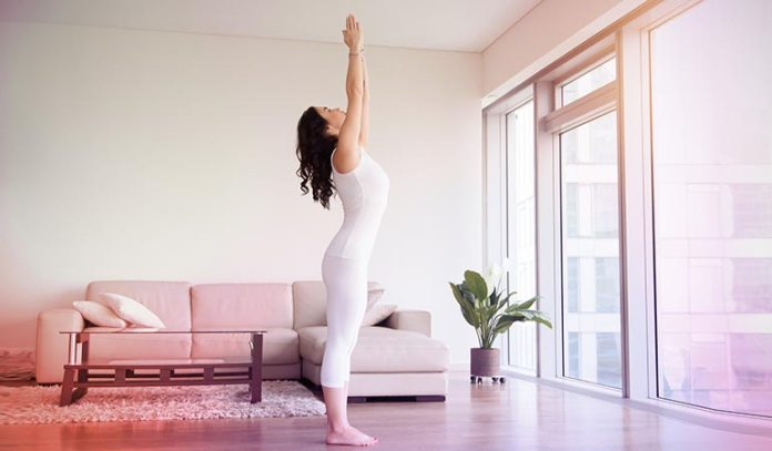 Sun salutation helps you draw energy from the sun