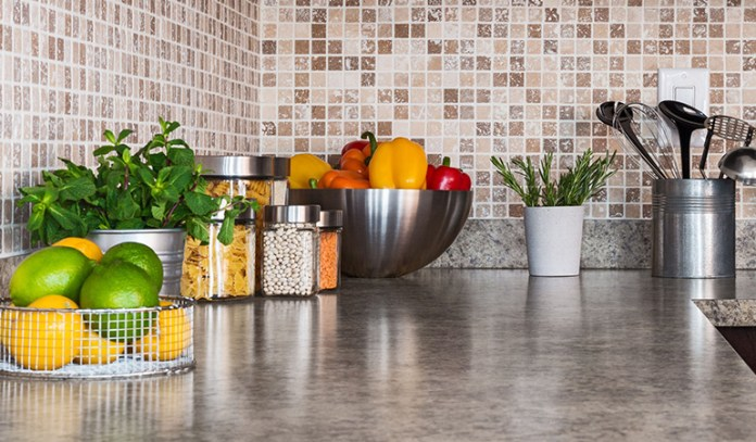 Kitchen with healthy food reduces junk intake