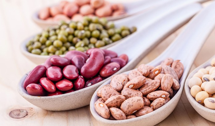 Beans and lentils are rich in fiber.