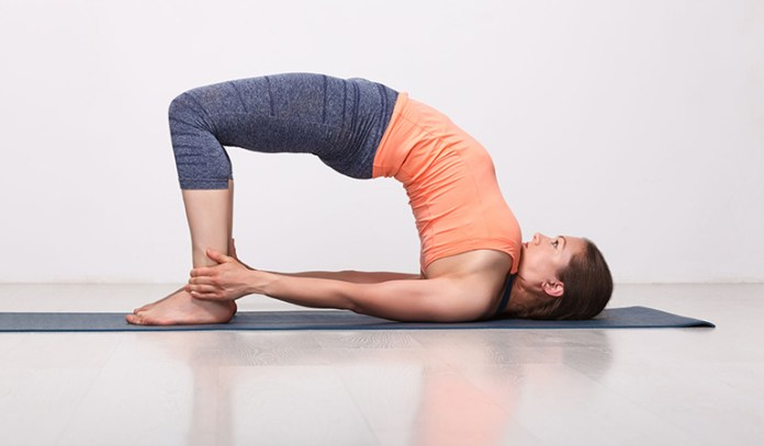 The bridge pose strengthens your back for long hours of work