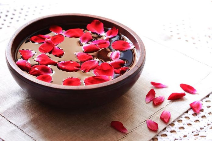 Rosewater itself is a good remedy for dark circles